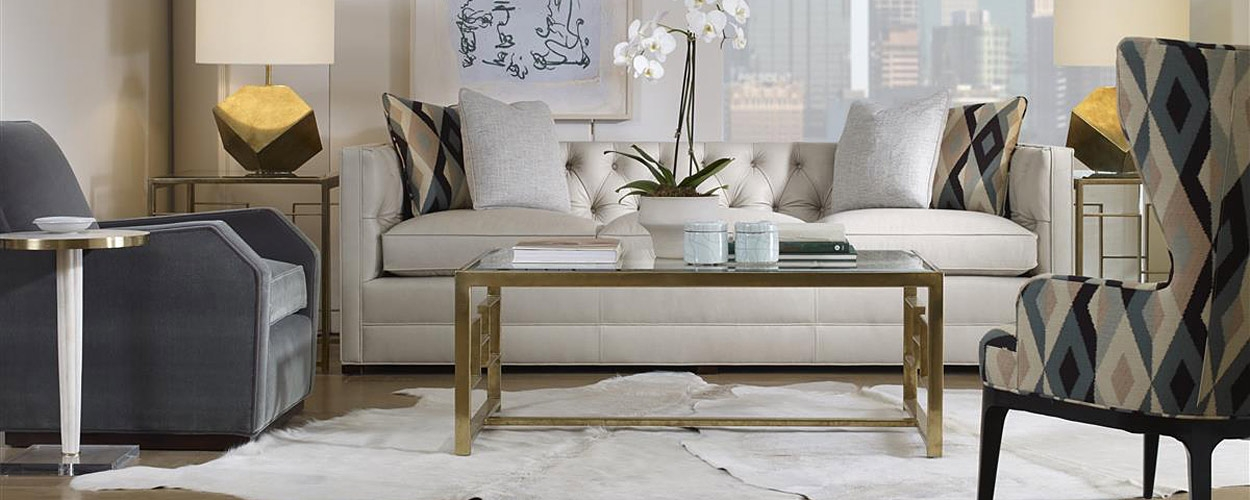 Living Room Design With White And Neutral Color Sofa U0026 Chairs.